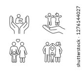 child custody linear icons set. ... | Shutterstock .eps vector #1276144027
