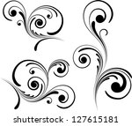 abstract floral pattern | Shutterstock .eps vector #127615181