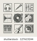 set of music instruments icons... | Shutterstock .eps vector #127615244