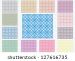 seamless background of plaid... | Shutterstock .eps vector #127616735