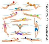 swimmers vector. various... | Shutterstock .eps vector #1276170457