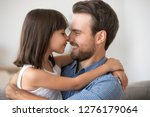 cute little girl embracing... | Shutterstock . vector #1276179064