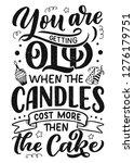 birthday lettering in retro... | Shutterstock .eps vector #1276179751