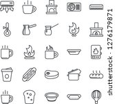 thin line icon set   coffee... | Shutterstock .eps vector #1276179871