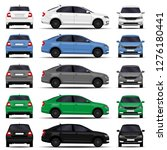 realistic cars set. sedan.... | Shutterstock .eps vector #1276180441