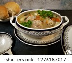 soup with meatballs in a... | Shutterstock . vector #1276187017
