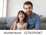 headshot of happy cute kid... | Shutterstock . vector #1276191067