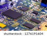 electronic circuit board close... | Shutterstock . vector #1276191604