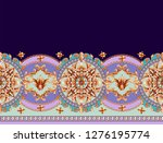 border with golden baroque... | Shutterstock .eps vector #1276195774