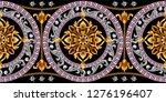 border with golden baroque... | Shutterstock .eps vector #1276196407