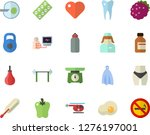 color flat icon set weighing... | Shutterstock .eps vector #1276197001