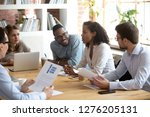 african young project manager... | Shutterstock . vector #1276205131
