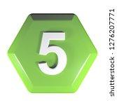 a green hexagonal push button...   Shutterstock . vector #1276207771