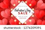 valentine's day sale promo... | Shutterstock .eps vector #1276209391