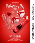 happy valentine's day party... | Shutterstock .eps vector #1276209817
