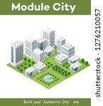 isometric urban architecture | Shutterstock . vector #1276210057