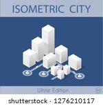 the isometric city with... | Shutterstock . vector #1276210117