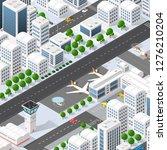 city megapolis structure | Shutterstock . vector #1276210204