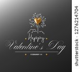 happy valentines day design...   Shutterstock .eps vector #1276214704