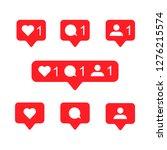 social media notification... | Shutterstock .eps vector #1276215574