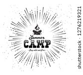 vintage summer camp badges and...   Shutterstock .eps vector #1276219321