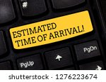 text sign showing estimated... | Shutterstock . vector #1276223674