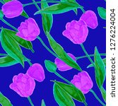 floral seamless pattern with... | Shutterstock . vector #1276224004