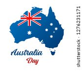 happy australia day. map of... | Shutterstock .eps vector #1276231171