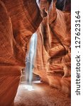 Antelope Canyon View With Ligh...