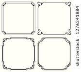 decorative vector frames | Shutterstock .eps vector #1276241884