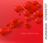 happy valentine's day greeting... | Shutterstock .eps vector #1276242727