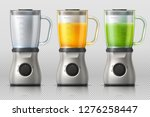 juicer. kitchen blender with... | Shutterstock .eps vector #1276258447
