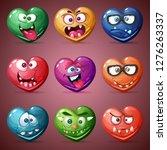 set valentine heart. love... | Shutterstock .eps vector #1276263337