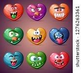 set valentine heart. love... | Shutterstock .eps vector #1276263361