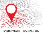 gps navigator pin. map with a... | Shutterstock .eps vector #1276268107