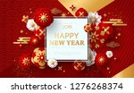 chinese greeting card for 2019... | Shutterstock .eps vector #1276268374
