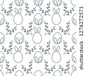 seamless pattern with easter...   Shutterstock .eps vector #1276272571