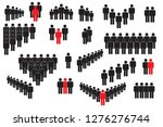 people icon set in flat style... | Shutterstock .eps vector #1276276744