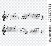 musical design elements  music... | Shutterstock .eps vector #1276277851