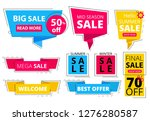 trendy flat banners. offers... | Shutterstock .eps vector #1276280587