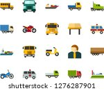 color flat icon set   school... | Shutterstock .eps vector #1276287901