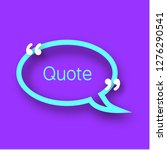 quote bubble on violet... | Shutterstock . vector #1276290541