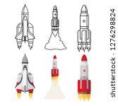 cartoon and doodle line space... | Shutterstock .eps vector #1276298824