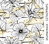 modern stripes jungle motif.... | Shutterstock .eps vector #1276299691