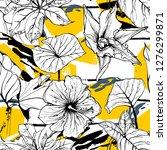 tropical  stripe  animal motif. ...   Shutterstock .eps vector #1276299871