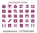 calendar icon set. 30 filled... | Shutterstock .eps vector #1276301464