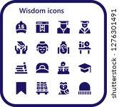 wisdom icon set. 16 filled... | Shutterstock .eps vector #1276301491