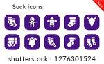 sock icon set. 10 filled sock...   Shutterstock .eps vector #1276301524