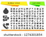 bubble icon set. 120 filled... | Shutterstock .eps vector #1276301854