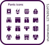 pants icon set. 16 filled... | Shutterstock .eps vector #1276301971